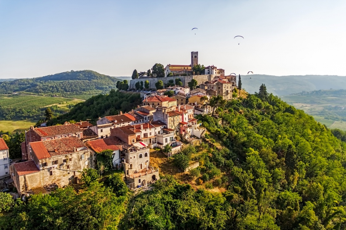 'Motovun is a small village in central Istria (Istra), Croatia. City containing elements of Romanesque, Gothic and Renaissance styles.' - Istria
