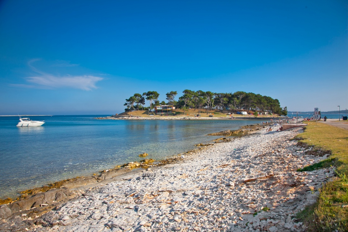 View on Punta small island in Medulin, Croatia.